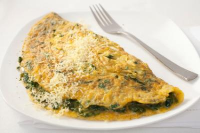 Baby Spinach Omelet Recipe