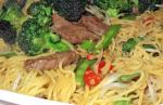 healthy recipe for Beef Chow Mien