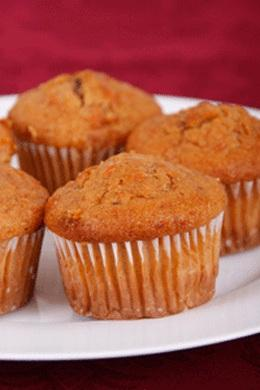 Carrot Mini Muffins Without Eggs Recipe