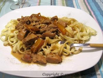 Chicken and Pasta with Orange Sauce