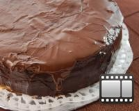 Chocolate Topped Sponge Cake