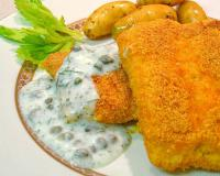Cornmeal Crusted Salmon with Dill Sauce