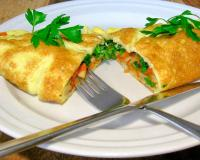 Egg Pancake With Vegetables And Feta Cheese Recipe