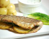 Fried Trout with Dill and Lemon