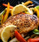easy recipe for Grilled Chicken Breast and Vegetables Recipe