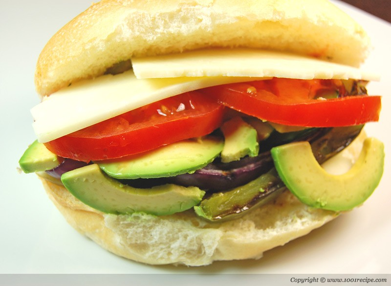 Grilled vegetable panini Photo