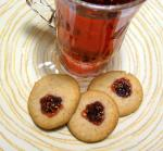 Jam Filled Hazelnut-Almond Cookie