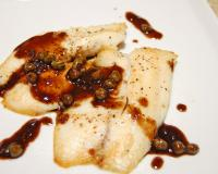 Pan Fired Fish Capers Balsamic Reduction Recipe
