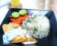 Pan Fried Fish with Dill Rice