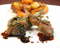 Roasted Lamb Chops with Balsamic Reduction Sauce
