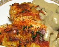 Roasted Paprika Chicken with Mushroom Sauce Recipe