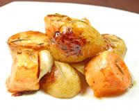 Oven Roasted Nugget Potatoes and Yams Recipe