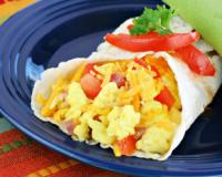 Scrambled Egg Vegetables Wrap Recipe
