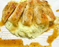 Soy Marinated Chicken with Mashed Potato