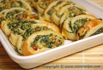 Spinach and Cheese Swirl
