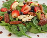 Spinach And Fresh Fruit Salad Recipe
