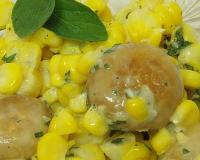 Sweet Corn And Saute Mushroom Recipe