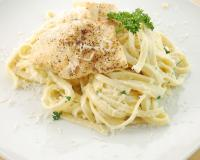 Pasta Alfredo with Tilapia