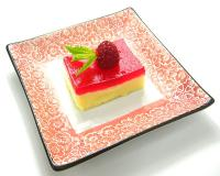 Vanilla Cream and Strawberry Jello