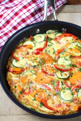 ... vegetable frittata can be made with your favorite vegetables and you