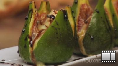 Warm Figs with Cambozola and Balsamic